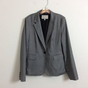 Banana Republic Lined One Button Charcoal Blazer